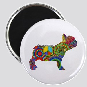 "Peace Love Frenchies 2.25"" Magnet (10 pack)"